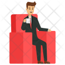 Businessman with Coffee Icon