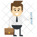 Businessman with degree Icon