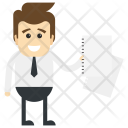 Businessman With Documents Icon