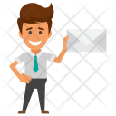 Businessman With Envelope Icon