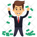 Businessman with Money Icon