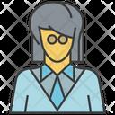Businesswoman Woman Avatar Icon