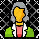 Employer Entrepreneur Woman Icon