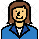 Businesswoman Manager Personal Assistant Icon