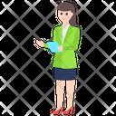 Businesswoman Businessperson Female Employee Icon
