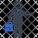 Briefcase Businesswoman Going Icon