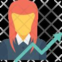 Businesswoman Girl Investor Icon