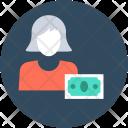 Businesswoman Cashier Accountant Icon