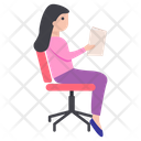 Businesswoman Character Icon