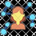 Businesswoman Connection Icon