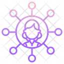 Ienterprise Businesswoman Network Business Network Icon
