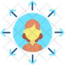 Businesswoman Network Icon