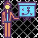 Businesswoman Planning Icon