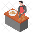 Butcher Meat Cutting Beef Dishes Icon