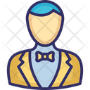 Butler Waiter Young Boy Icon