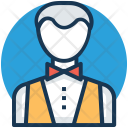 Butler Servant Stewardess Icon