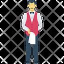 Butler Waiter Waiting Staff Icon