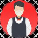 Butler Waiter Young Boy Icon