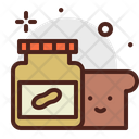 Butter Jelly Peanut Butter And Bread Icon