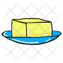 Cheese Butter Block Cheese Block Icon