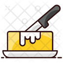 Butter Curd Dairy Product Butter Block Icon