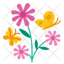 Butterfly Flower Nature Icon