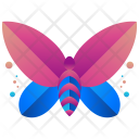 Butterfly Logogram Shape Icon