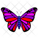 Colored Wings Insect Icon