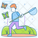 Butterfly Catcher Catching Activity Catching Net Icon