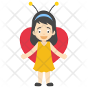 Butterfly Wings Girl Icon