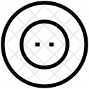 Button Cloth Hole Icon