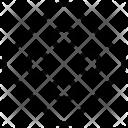 Button Rhombus Cloth Icon