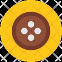 Button Round Cloth Icon