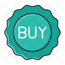 Buy Sale Sticker Icon