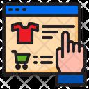 Cart Online Shirt Icon