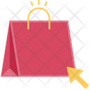 Buy Click Shopping Bag Icon