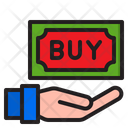 Buy Hand Money Icon