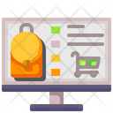 Backpack Online Shop Icon