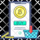 Buy Bitcoin Bitcoin Shopping Cryptocurrency Shopping Icon