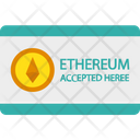 Buy Ethereum Sign Cryptocurrency Ethereum Accepted Here Icon