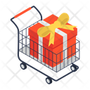 Buy Gift Gift Shopping Shopping Trolley Icon