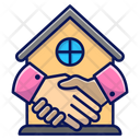 Buy A House Deal Building Icon