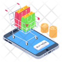 Buy Now Shopping Bags Mobile Shopping Icon
