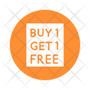 Buy One Get One Free Customer Offer Sale Offer Icon