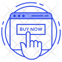 Buy Online Online Shopping Online Purchasing Icon