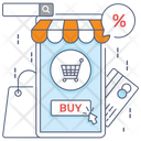 Shopping App Mobile App Buy Online Icon