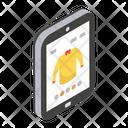 Mobile Shopping Online Shopping Buy Shirt Icon