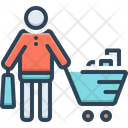 Buyer Purchaser Grocery Icon