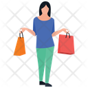 Buying Activity Girl Posing Shopping Time Icon