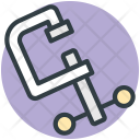 C Clamp Symbol Icon